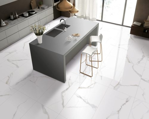 1-AKD1-AKD4-Calacatta-White-Glazed-Porcelain-Tile-Kitchen-view